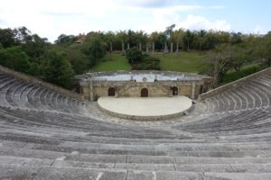Another attraction in Altos de Chavon is this five-thousand seat amphitheater. It is mainly used for music concerts and other performances. The acoustics are perfect - I whispered from the stage and people could hear me at the top.