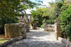 All the walkways and building entrances were made from stone by Dominican artisans.