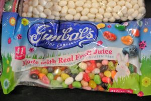 Jelly beans from Gimbal's are also available in pre-mixed bags, but we like to create our own color combinations.