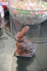 These solid chocolate bunnies are from my special Easter Collection on QVC. We sold out of them quickly for Easter.