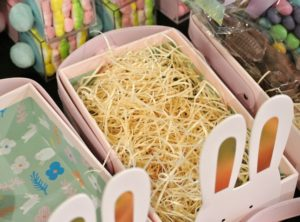 Easter grass comes in all different colors, but I prefer the natural light straw color.
