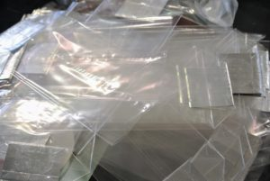 Cellophane bags come in all sizes with and without flat bottoms. They are available at party supply stores and online. We get ours from Nashville Wraps. https://www.nashvillewraps.com/