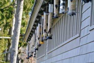 All the bird feeders behind my carport were checked and filled. More than 125 species of birds visit my farm - it's important to me that they have ample food to eat especially during this cold season.
