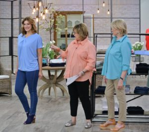 Carolyn is talking about my Knit Twist Front Dolman top. It has a relaxed fit and is generously cut to provide the most comfort.