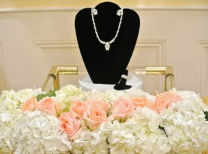 Also displayed near the dessert table were gifts from Shqipe's siblings - jewelry Shqipe will wear at the wedding.