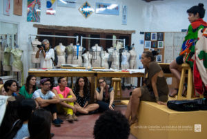 The School of Design invites many notable designers to lecture to its students. Here is fashion designer, Donna Karan, speaking to a group of young fashion students. (Photo provided by Chavon: School of Design)