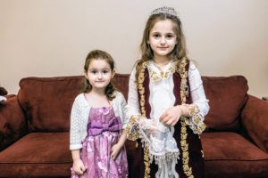 Here is Shqipe's cousin's four-year daughter, Era, and her niece, Ema. (Photo by Joseph Shkreli)