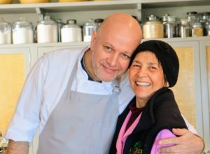 Here's a sweet photo of Chef Pierre and Laura just before breakfast.
