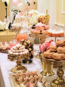 Shqipe also made many of the treats at this dessert table - everything looked so decadent.