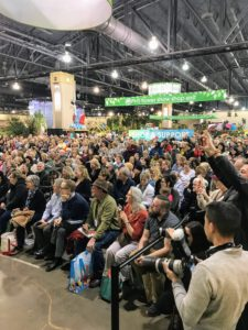 It was great to see such a full and energetic audience. More than 250-thousand people attend the Flower Show each year. (Photo by Albert Lee for PHS)