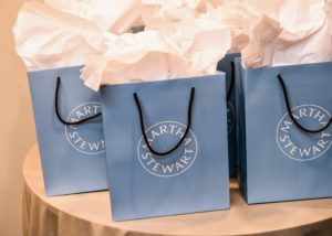 """Each guest received a gift bag including a signed copy of my book, our newest April issue of """"Living"""" and a Christie's catalog of The David and Peggy Rockefeller auction. (Photo by BFA Photographer, Joe Schildhorn)"""