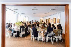 The luncheon was held in Christie's boardroom - it was the perfect location for our gathering. Pieces from the Rockefeller art collection are hung on the walls including a Paul Gaugin painting. (Photo by BFA Photographer, Joe Schildhorn)