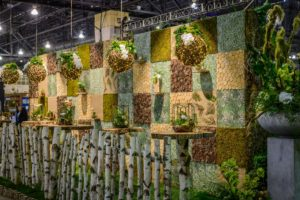 Here is another display of mosses and other green shades designed by Robertson's Flowers & Events. (Photo by Rob Cardillo for PHS)