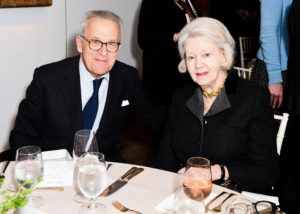 Here is Stephen Lash, Chairman Emeritus of Christie's Americas and Vice Chairman of Christie's American Advisory Board. He is seated next to Irene Roosevelt Aitken, a prominent New York socialite and wife of the late John A. Roosevelt, the youngest of the Roosevelts' six children. (Photo by BFA Photographer, Joe Schildhorn)