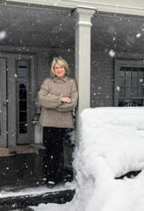 And finally, a fun photo of me on my expansive porch as the snow continues to fall. Thanks for the great gallery of pictures, Kevin. And remember to see more of his images on Instagram @SeenbySharkey.