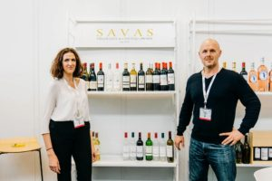 Emmanuelle David and Mark Gill of SAVAS wines of Bordeaux France are the makers of Marquis de Bacalon, Fleur de Roche and other wines available at Martha Stewart Wine Co. (Photo by Brandon Bibbins of DRINKS)