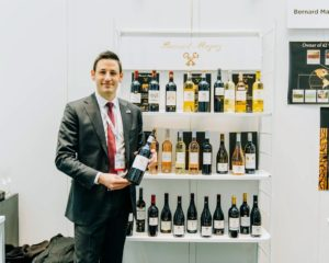 This is Antoine Fanjat of Bernard Magrez wines of France, makers of Villa Ruby, La Référence, Coup de Rosé and other wines also available through Martha Stewart Wine co. (Photo by Brandon Bibbins of DRINKS)