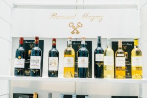 Here is a selection of the wines offered by Bernard Magrez. (Photo by Brandon Bibbins of DRINKS)