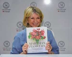 "Here I am with ""Martha's Flowers"". I am so proud to share this book with you - we all worked very hard on it. (Photo by Kent Miller)"