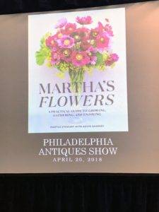 "I showed a selection of slides as part of our presentation. This is the cover of ""Martha's Flowers"" - do you have your copy yet? It makes a wonderful gift for Mother's Day, which is coming up very soon."