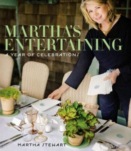 "And here is one of my favorites - ""Martha's Entertaining, A Year of Celebrations"". Everyone wants secrets and shortcuts, tips and hints, easy instructions, fabulous recipes they can trust, and above all, new inspiration, so their own adventures in entertaining can be unique, more extraordinary, and more innovative. In this book, I offer my insights, ideas and advice for hosting the best gatherings."