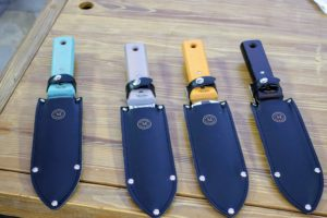 These multi-use Hori Hori knives come in a variety of colors, and a scabbard or sheath made of leather. It really is such a helpful tool for the garden.