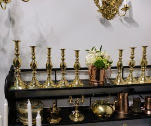 I love brass, and have an extensive collection of brass candlesticks. These caught my eye right away.