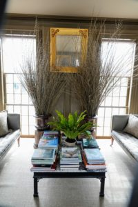 Remember those pussy willows, Salix discolor, we arranged a few weeks back? Here they are still looking so wonderful in the Brown room. Guests loved them.