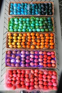 And here are all the eggs for the egg hunt - all ready to be hidden for the children.
