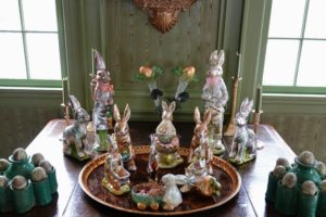 And many of you recognize these, I am sure. These are bunnies wrapped in foil - they look so much like big chocolate bunnies ready to be unwrapped and eaten - but they're not.