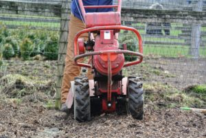 On rear-tine tillers, wheels are standard operating equipment.