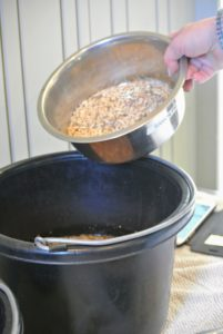 All the grains are soaked for five to 10-minutes before mealtime.