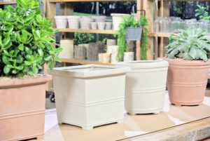 My False Bottom Planters come in a variety of sizes, shapes and colors.