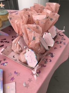And for favors, use these fanciful pink favor bags - we thought of everything you may need for your next gathering.