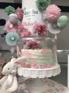 This beautiful cake stand and dome are from my Collection at Macy's. We embellished it with cutouts made with the new Cricut Explore Air™ 2 Martha Stewart Edition.