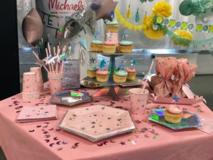 """This themed party also has confetti tablecloths and cups, and napkins - feel free to mix and match the """"Celebrations"""" pieces as well."""