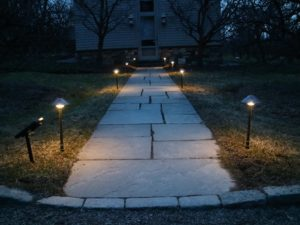 The lights can run for eight full hours before turning off. Here are two sets illuminating the foot path in front of my blog studio. Be sure to catch me tomorrow, Tuesday, April 3rd, throughout the day for more great products from my Garden Collection on QVC.