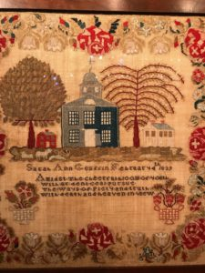 M. Finkel & Daughter also presented this imported Lehigh Valley, Pennsylvania sampler by Sarah Ann Graffin in 1839. This piece was priced at 26-thousand dollars.