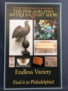 It was a very interesting and fun show. If you are in the Philadelphia area next year, try to attend. See their web site for more information. http://philadelphiaantiquesandartshow.com/