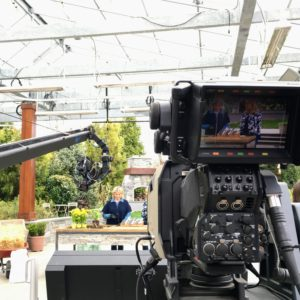 Here I am on set showing how we use the Hori Hori knife - it is so versatile and handy for planting in both the flower and vegetable gardens.