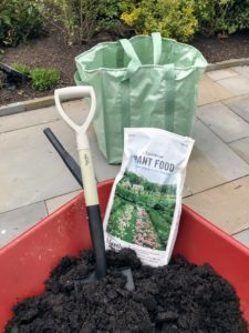 Here is my shovel in slate next to a bag of my All-Purpose Fertilizer for Flowers, Shrubs and Vegetables. It is so important to feed your plants. Watch a clip of me talking about this great plant food formula on QVC's web site. goo.gl/UgcDfd