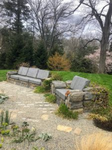 Near the Ruin Garden is this set of inviting Stone Furniture. We did not, however, take a seat - there was too much to see.