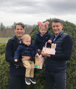 Here is a great photo of Alex Peruzzi, who used to work for me as head of licensing at Martha Stewart Living. He is now at Barnes & Noble. Here he is with his husband, Pierre Dupreelle, and their sons, Auguste and Grey.