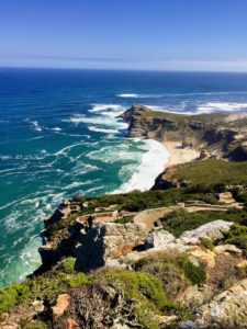 The couple climbed up Cape Point, a promontory at the southeast corner of the Cape Peninsula. From there, they saw the Cape of Good Hope, this rocky headland on the Atlantic coast.