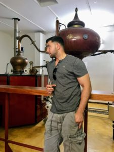 They also tasted brandy distilled from wine grapes - they thought it was a bit strong.