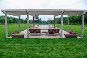 Here is the finished pergola and our new chaises longues and side tables from Restoration Hardware. goo.gl/B1f4AY