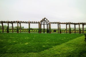 In the back of one of the fields is this installation set up by Black Barn and Topiary Design in Richmond, Massachusetts.