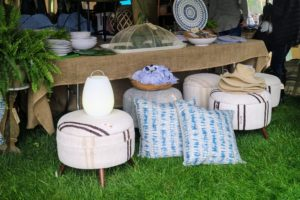 Hammertown Barn is also another longtime Trade Secrets vendor. This year, they had these fun ottomans and pillows. https://hammertown.com/