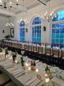 After the event, the NYBG hosted an intimate dinner. The tables were so beautifully dressed.
