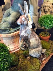 There were many animal figures at the Fair - this cast iron bunny would make a wonderful decoration for Easter.